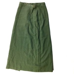 Patagonia 100% Hemp Moss Green Wrap Long Skirt